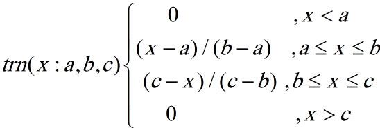 تابع عضویت مثلثی فازی