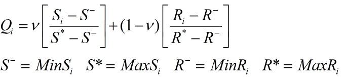 محاسبه شاخص ویکور Q