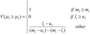 درجه امکان بزرگ تر بودن عدد مثلثی فازی