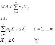 مدل برنامه ریزی فازی با ضرایب سمت راست فازی
