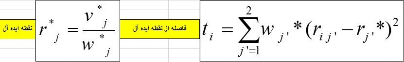 محاسبه فاصله از نقطه ایده آل