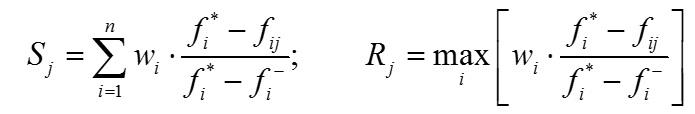 محاسبه مقدار سودمندی (S) و مقدار تاسف (R)