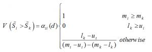 درجه ی ارجحیت درجه امکان پذیری Si بر Sk