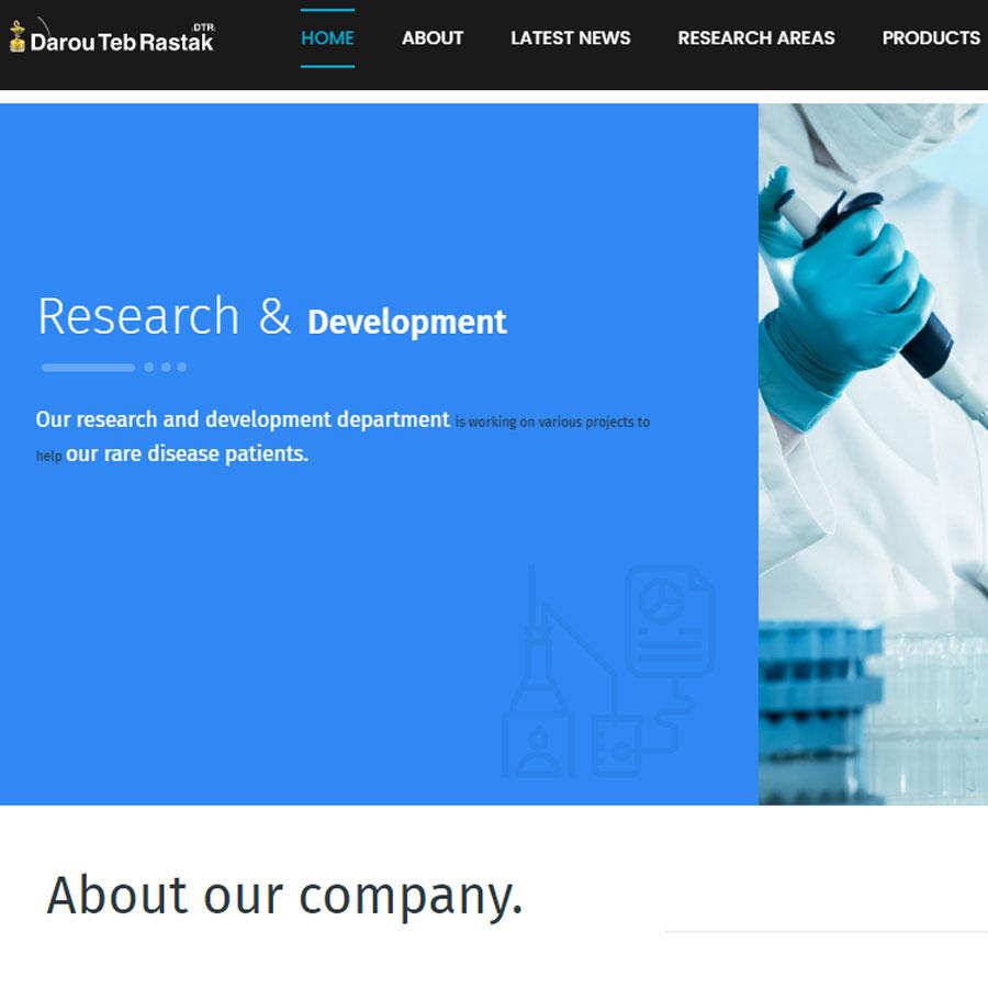 طراحی سایت شرکت داروطب رستاک