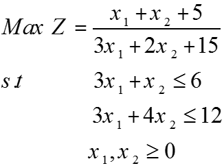 مثال برنامه ریزی کسری خطی